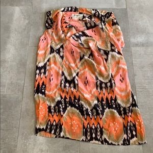 ALL SAINTS 10 orange silk tunic ( dress/ shirt)